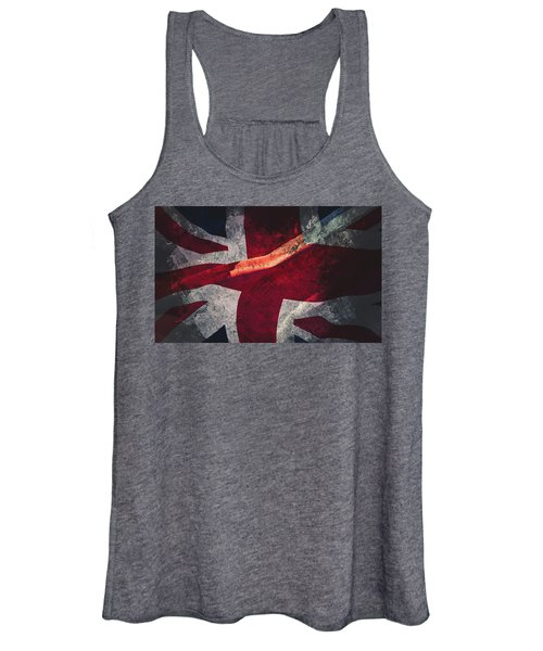 Union Jack Fine Art, Abstract Vision Of Great Britain Flag Women's Tank Top