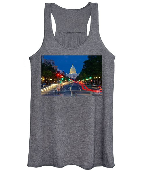 United States Capitol Along Pennsylvania Avenue In Washington, D.c.   Women's Tank Top
