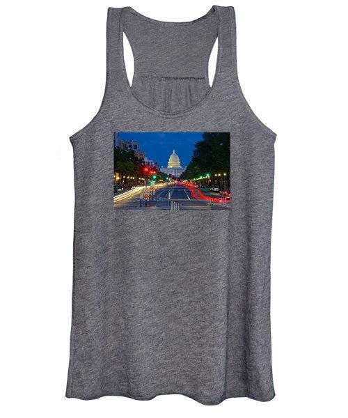 United States Capitol Along Pennsylvania Avenue In Washington, D.c.   Women's Tank Top