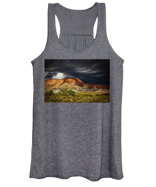 Utah Mountain With Storm Clouds Women's Tank Top