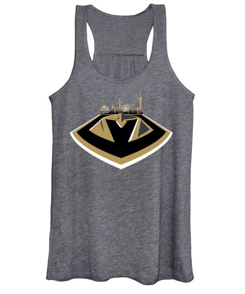 Vegas Golden Knights With Skyline Women's Tank Top