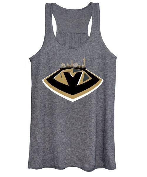 Vegas Golden Knights With Skyline Women's Tank Top