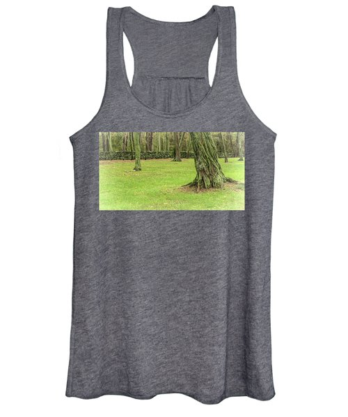 Venerable Trees And A Stone Wall Women's Tank Top