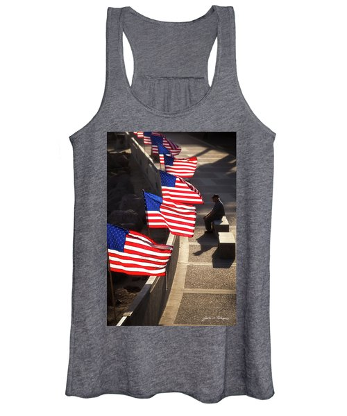 Veteran With Our Nations Flags Women's Tank Top