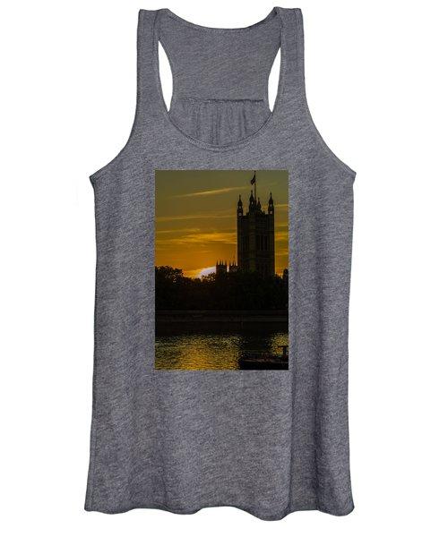 Victoria Tower In London Golden Hour Women's Tank Top