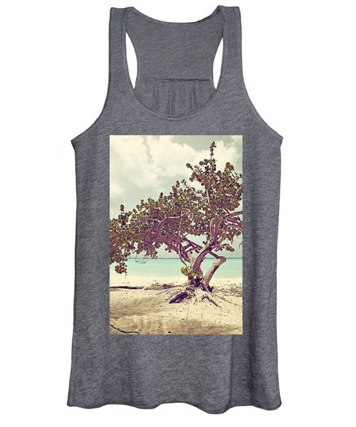 View At The Ocean With Boats In The Water Women's Tank Top