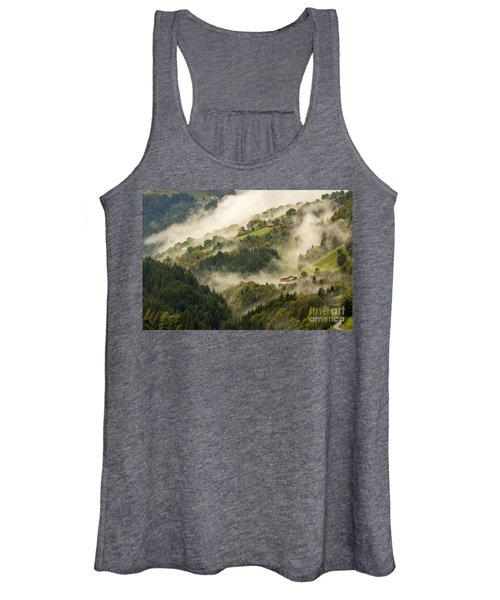 View Of Alpine Landscape. France. Women's Tank Top