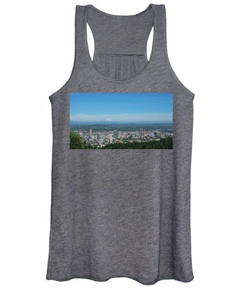 View Of Downtown Portland Oregon From Pittock Mansion Women's Tank Top
