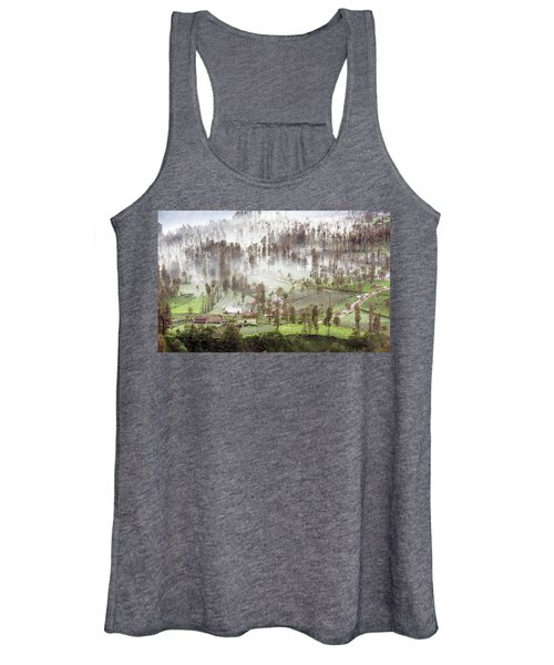 Village Covered With Mist Women's Tank Top