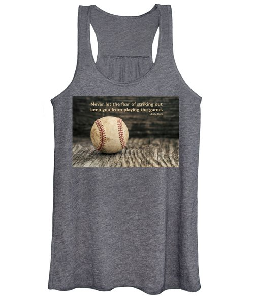 Vintage Baseball Babe Ruth Quote Women's Tank Top