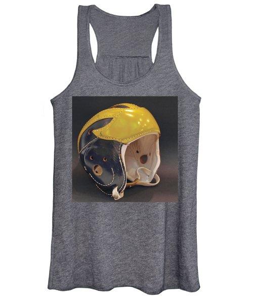 Vintage Leather Wolverine Helmet Women's Tank Top