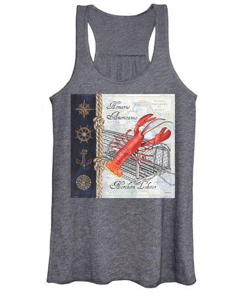 Vintage Nautical Lobster Women's Tank Top