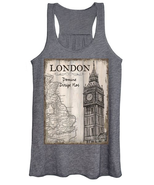 Vintage Travel Poster London Women's Tank Top