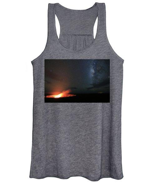 Volcano Under The Milky Way Women's Tank Top