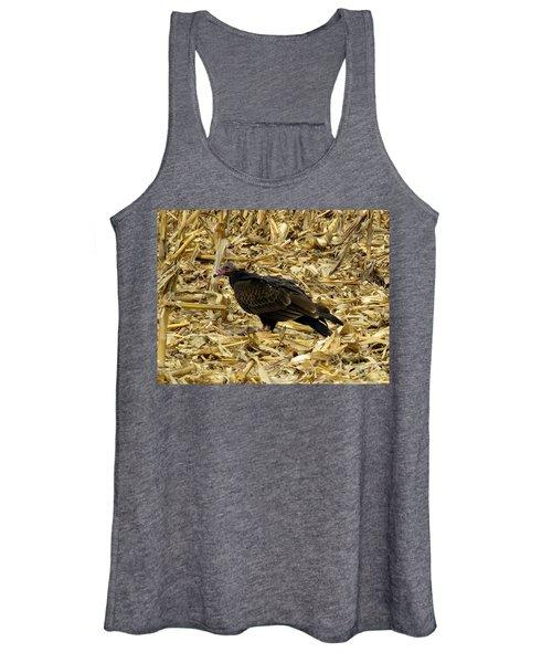 Vulture In The Corn Field  Women's Tank Top