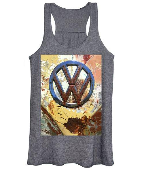 Vw Volkswagen Emblem With Rust Women's Tank Top