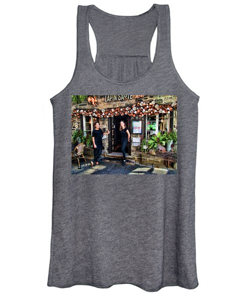 Waitresses At Outdoor French Terroir In Old Quebec City Women's Tank Top