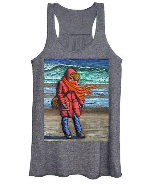 Walk On Beach Women's Tank Top
