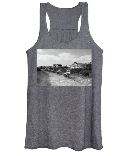Walk Through The Dunes In Black And White Women's Tank Top
