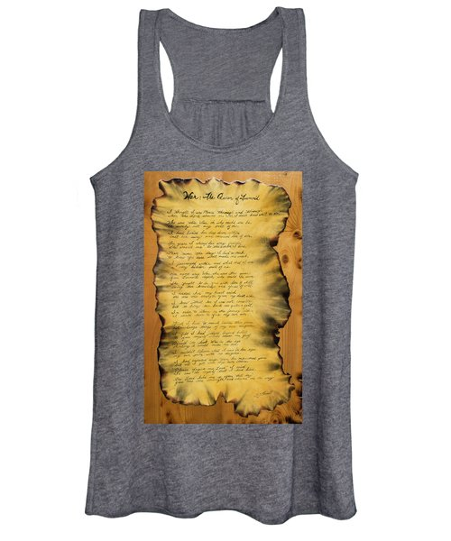War's Poem Women's Tank Top