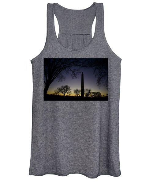 Washington Monument At Twilight With Moon Women's Tank Top
