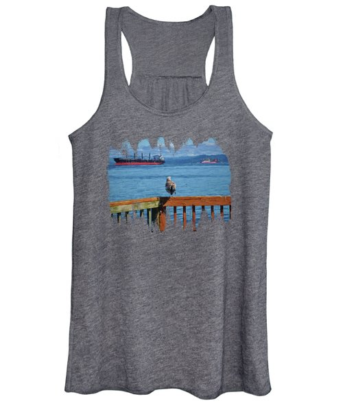 Watching The Ships Go By Women's Tank Top