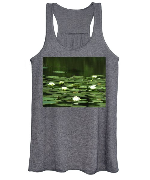 Women's Tank Top featuring the photograph Water Lilies 3 by John Feiser