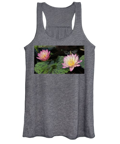 Water Lily Pair Women's Tank Top