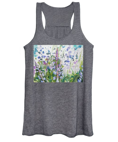 Watercolor - Lupine Wildflowers Women's Tank Top