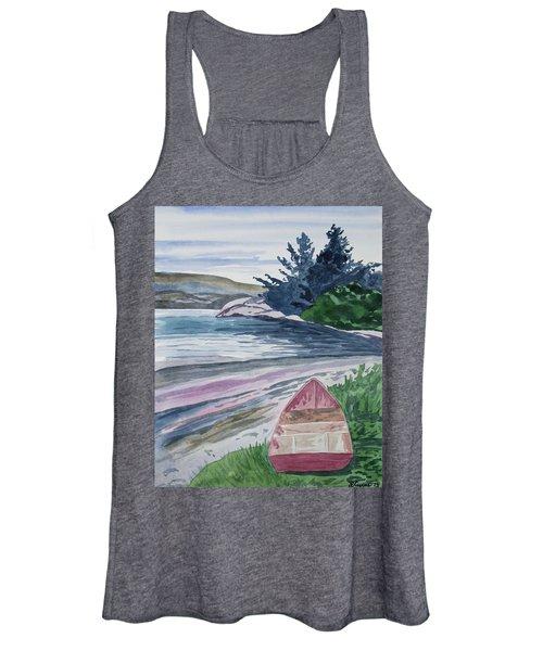 Watercolor - New Zealand Harbor Women's Tank Top