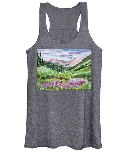 Watercolor - San Juans Mountain Landscape Women's Tank Top