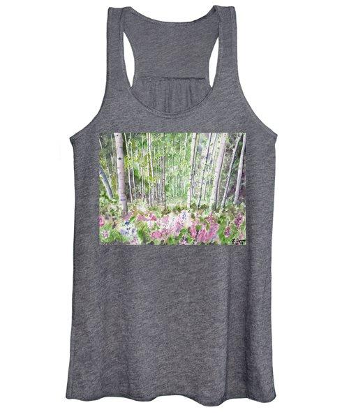 Watercolor - Summer Aspen Glade Women's Tank Top