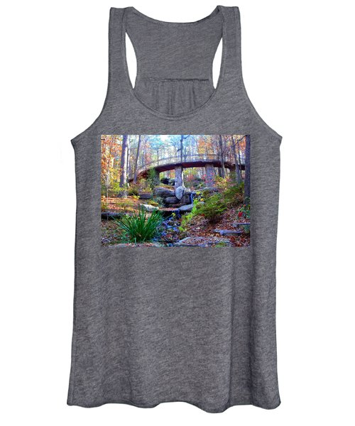 Waterfall And A Bridge In The Fall Women's Tank Top