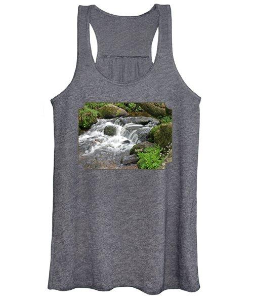 Waterfall At Hexworthy Dartmoor Women's Tank Top
