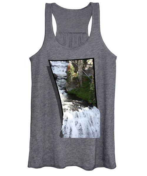 Women's Tank Top featuring the photograph Waterfall by Shane Bechler