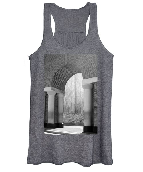 Waterwall And Arch 3 In Black And White Women's Tank Top