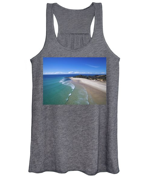 Waves Rolling In To North Point Beach On Moreton Island Women's Tank Top