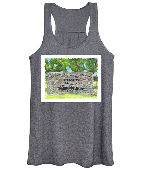Welcome Sign Fort Sill Women's Tank Top