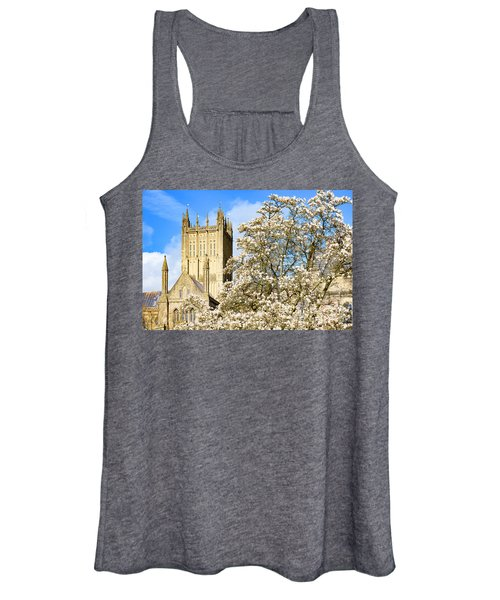 Wells Cathedral And Spring Blossom Women's Tank Top