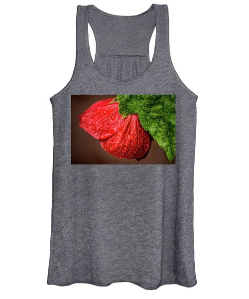 Wet Flower-abutilon Women's Tank Top