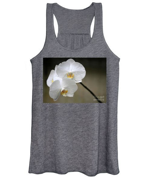 Wet White Orchids Women's Tank Top