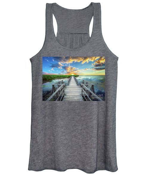 Wetland Marsh Sunrise Treasure Coast Florida Boardwalk A1 Women's Tank Top