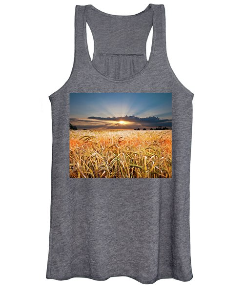 Wheat At Sunset Women's Tank Top