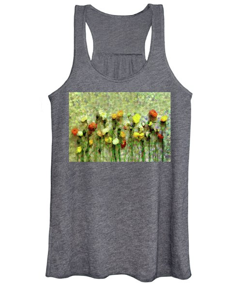 Whimsical Poppies On The Wall Women's Tank Top