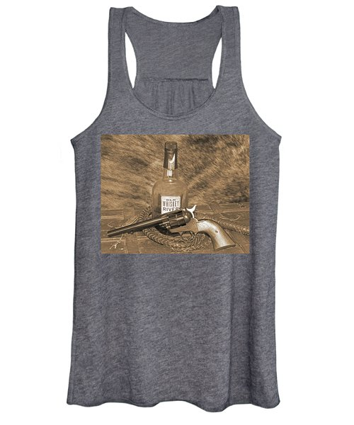 Whiskey And A Gun Women's Tank Top