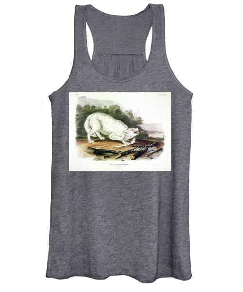 White American Wolf Women's Tank Top