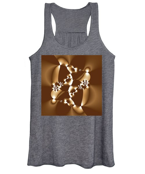 White And Milk Chocolate Fractal Women's Tank Top