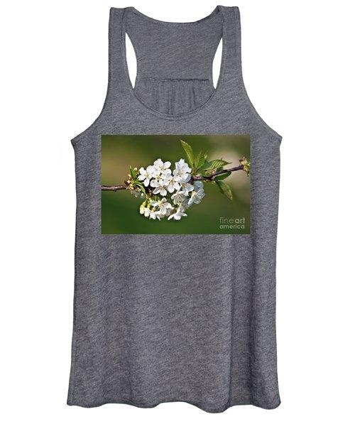White Apple Blossoms Women's Tank Top