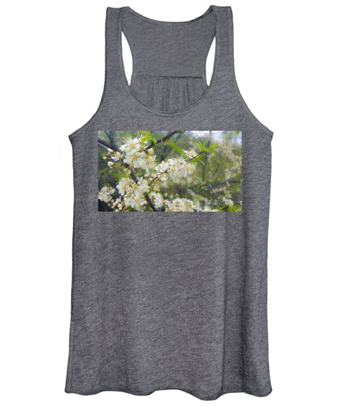 White Blossoms On Fruit Tree Women's Tank Top