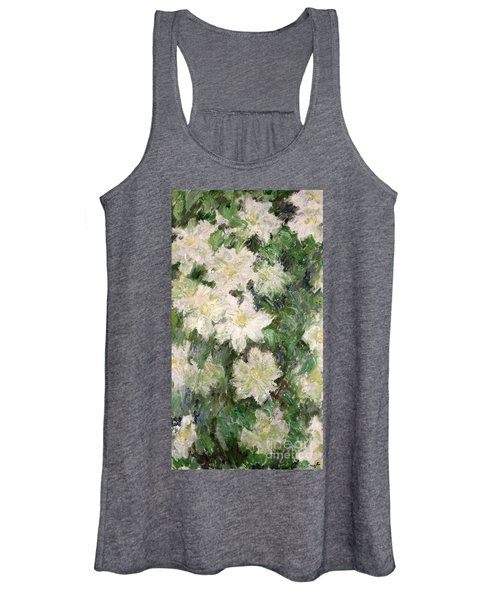 White Clematis Women's Tank Top